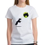 Women's TShirt giant jumps for ball head on front