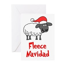 Fleece Navidad Greeting Cards (Pk Of 10)