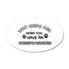 Cool American wirehair designs Wall Decal