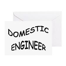Domestic Engineer Greeting Card