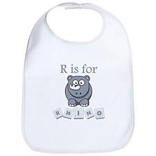 R Is For Rhino Bib