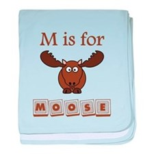 M Is For Moose baby blanket