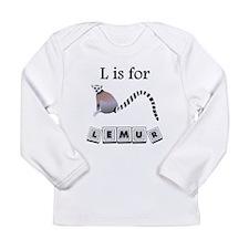L Is For Lemur Long Sleeve T-Shirt