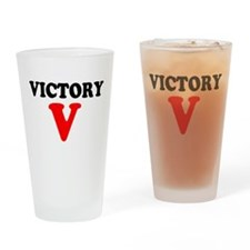 VICTORY V Drinking Glass