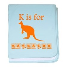 K Is For Kangaroo baby blanket