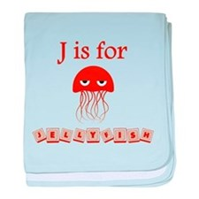 J Is For Jellyfish baby blanket