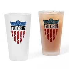 Ted Cruz Patriot Shield Drinking Glass
