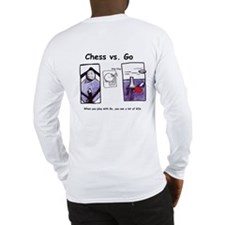 Long Sleeve Chess vs. Go T-Shirt