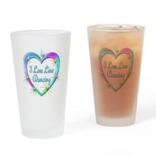 I Love Line Dancing Drinking Glass