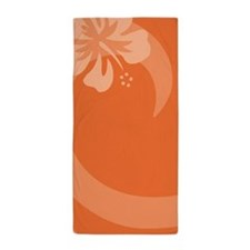 Hibiscus Orange Beach Towel