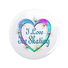 """I Love Ice Skating 3.5"""" Button"""