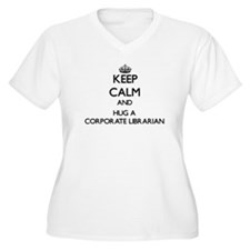 Keep Calm and Hug a Corporate Librarian Plus Size