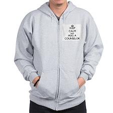 Keep Calm and Hug a Counselor Zip Hoodie