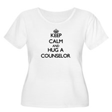 Keep Calm and Hug a Counselor Plus Size T-Shirt