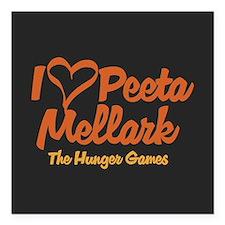 """I Heart Peeta Square Car Magnet 3"""" x 3"""""""