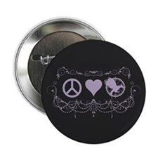 "Purple Peace Love Mockingjay 2.25"" Button (10 pack"
