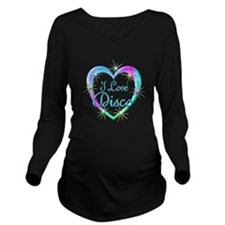I Love Disco Long Sleeve Maternity T-Shirt