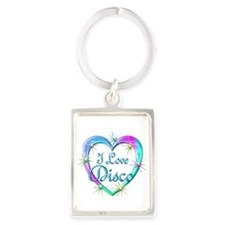 I Love Disco Portrait Keychain