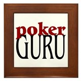 Poker Guru Framed Tile