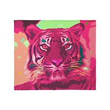 Tiger 016 Throw Blanket