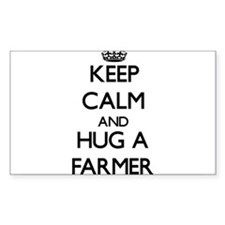 Keep Calm and Hug a Farmer Decal