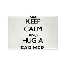 Keep Calm and Hug a Farmer Magnets
