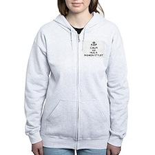 Keep Calm and Hug a Fashion Stylist Zip Hoodie