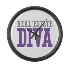 Real Estate DIVA Large Wall Clock