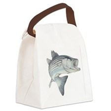 stripe bass Canvas Lunch Bag