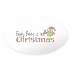 Baby Bump's 1st Christmas Owl Decal