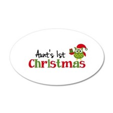Aunt's 1st Christmas Owl Wall Decal