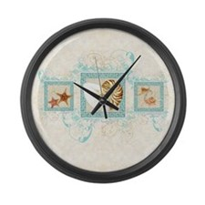 Cute Seashell home decor Large Wall Clock