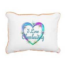 I Love Cheerleading Rectangular Canvas Pillow