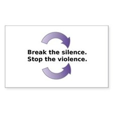 Break the silence Stop the Violence Decal