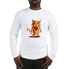 Red Fox Cartoon Long Sleeve T-Shirt