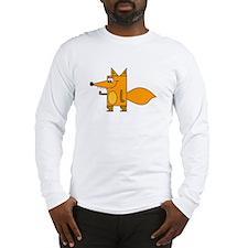 Cartoon Red Fox Long Sleeve T-Shirt