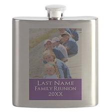 Family Reunion Photo Purple Flask