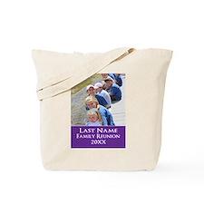 Family Reunion Photo Purple Tote Bag