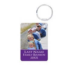 Family Reunion Photo Purple Keychains