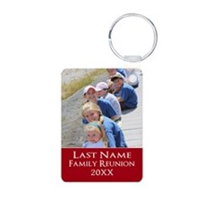 Family Reunion Photo Red Keychains
