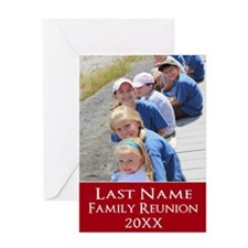 Family Reunion Photo Red Greeting Cards