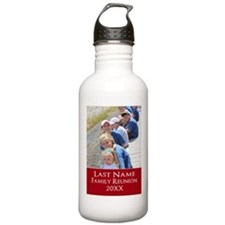 Family Reunion Photo Red Water Bottle