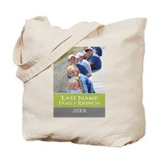 Family Reunion Photo Green Tote Bag