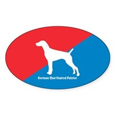 Pointer Diagonal Oval Decal
