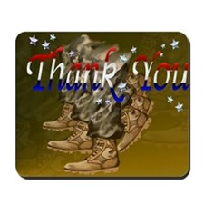 Thank You Veterans-Yardsign Mousepad
