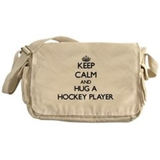 Keep Calm and Hug a Hockey Player Messenger Bag