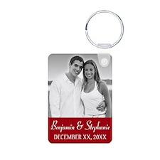 Wedding Photo Red Keychains