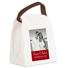 Wedding Photo Red Canvas Lunch Bag