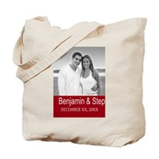 Wedding Photo Red Tote Bag