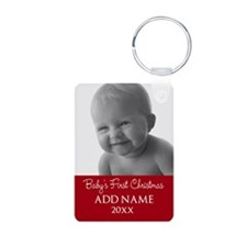 Baby First Christmas Red Keychains